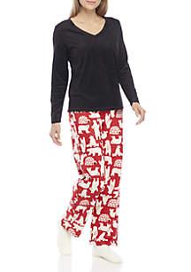 3-Piece Polar Beat Fleece Pajama Set