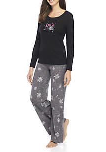 2-Piece Snowflake Pajama Set
