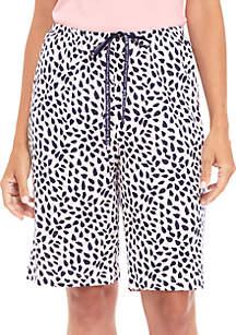 Animal Spot Bermuda Shorts
