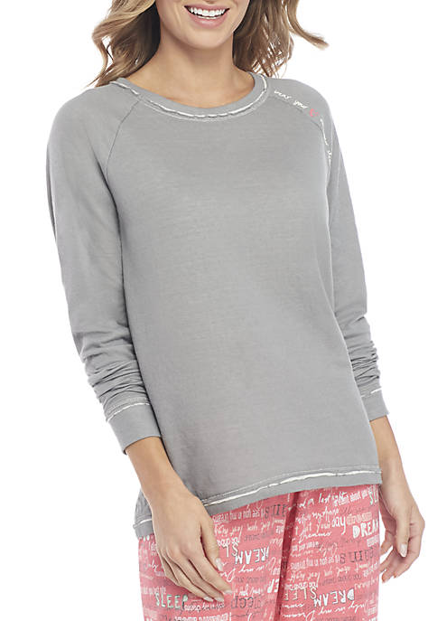 HUE® Long Sleeve Wear Your Heart Top