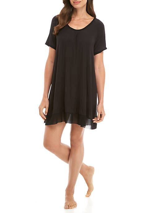 HUE® Short Sleeve SleepWell Gown