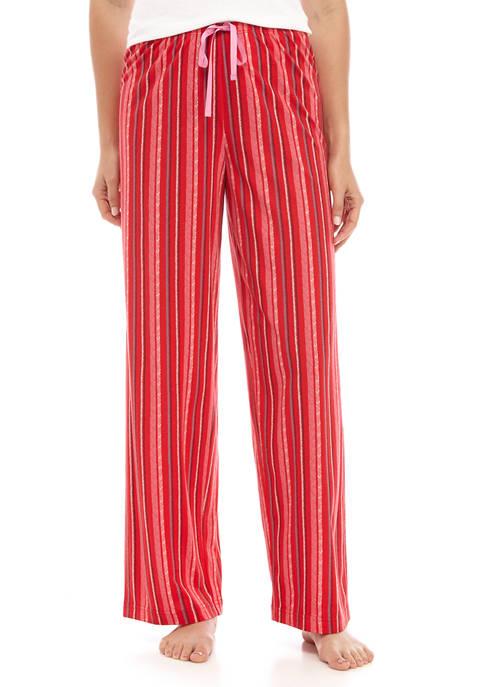 Womens Striped Sleep Pants