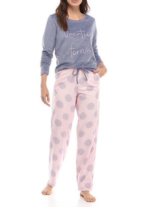 HUE® 2 Piece Vacation Forever Pajama Set