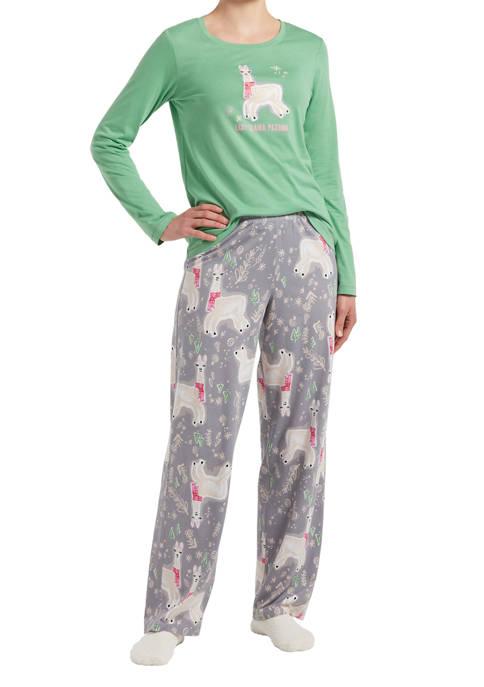Llama Drama Pajama Set with Socks