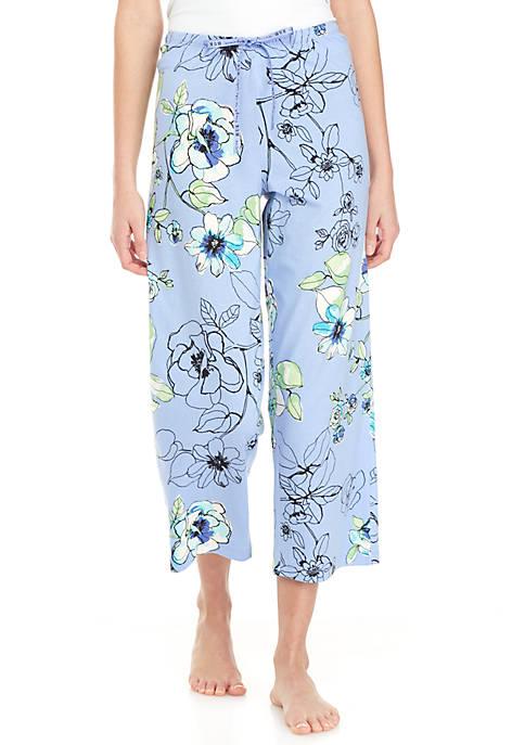 Morning Floral Capri Sleep Pants