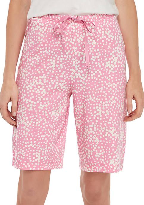 Stipple Dot Bermuda Pajama Bermuda Shorts