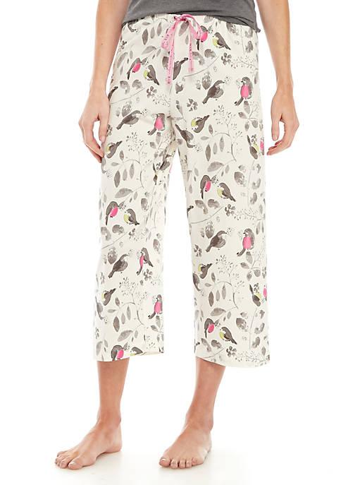 HUE® Singing Robin Sleep Capri Pants
