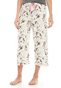 HUE® Singing Robin Sleep Capri Pants