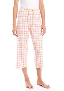 HUE® Check Please Pajama Capris