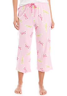 HUE® Dragonfly Fusion Capri Sleep Pants