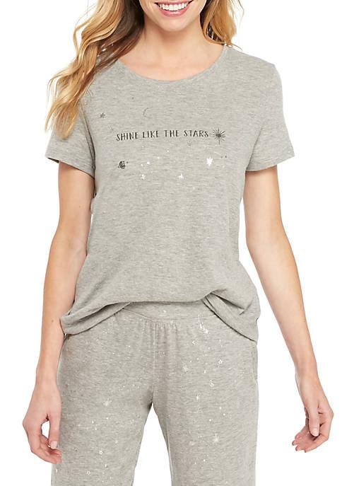 HUE® Short Sleeve Shining Star Tee