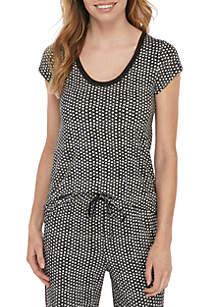 HUE® Short Sleeve Lunar Dot T Shirt
