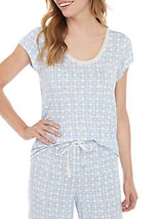 HUE® Short Sleeve Hazy Geo T Shirt