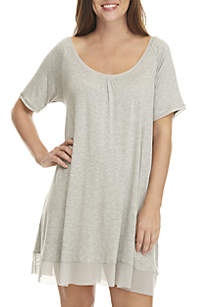 HUE® Sleepwell Short Sleeve Night Gown
