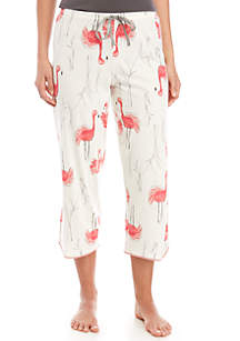 HUE® Flamingo Bush Capri Sleep Pants