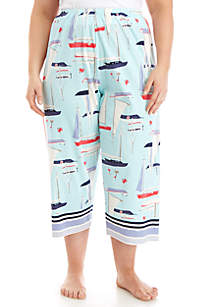 HUE® All at Sea Sleep Capri Pants