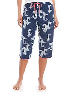 HUE® Mermaid Clam Digger Sleep Pants