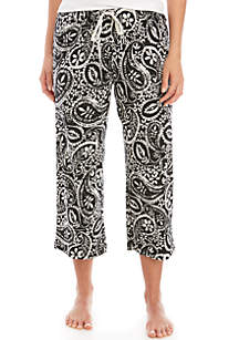 HUE® Paisley Sleep Capri Pants