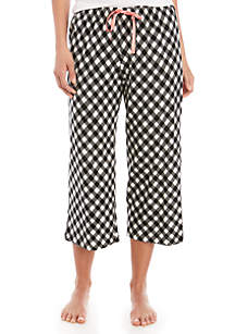 HUE® Gingham Capri Sleep Pants