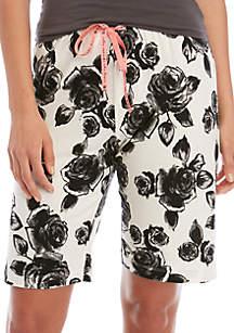 HUE® Rose Touch Bermuda Sleep Shorts