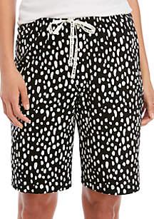 HUE® Animal Pop Bermuda Sleep Shorts
