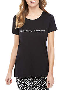 HUE® Short Sleeve Vacation Forever Tee