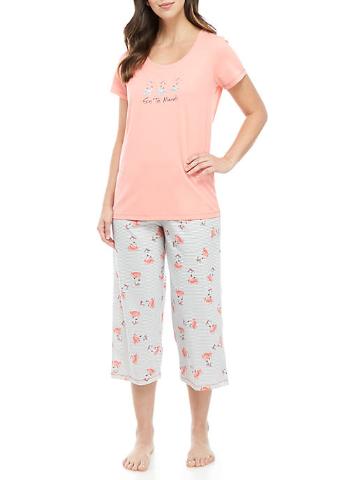 HUE® 2-Piece Crabella Capri Sleep Set