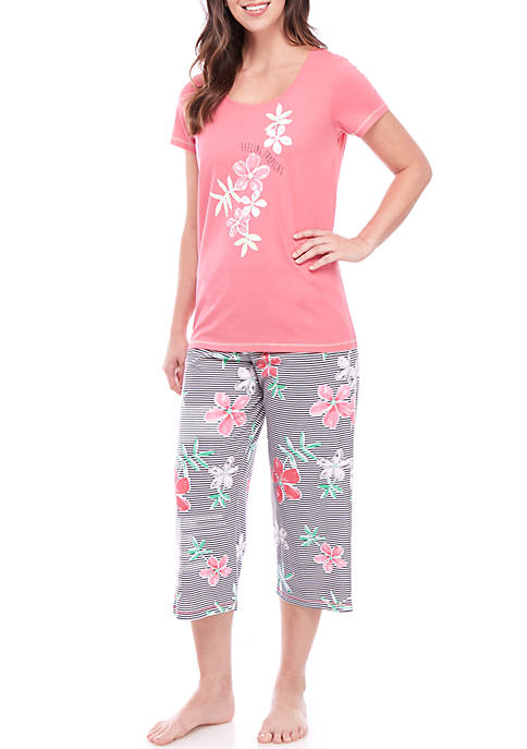 2 Piece Feeling Tropical Pajama Set
