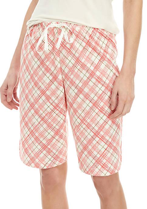 HUE® Plaid Bermuda Shorts
