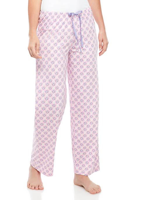 Womens Flower Geo Pajama Pants
