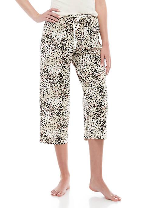 HUE® Wild Leo Pajama Capris