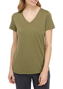 HUE® Short Sleeve V Neck T Shirt