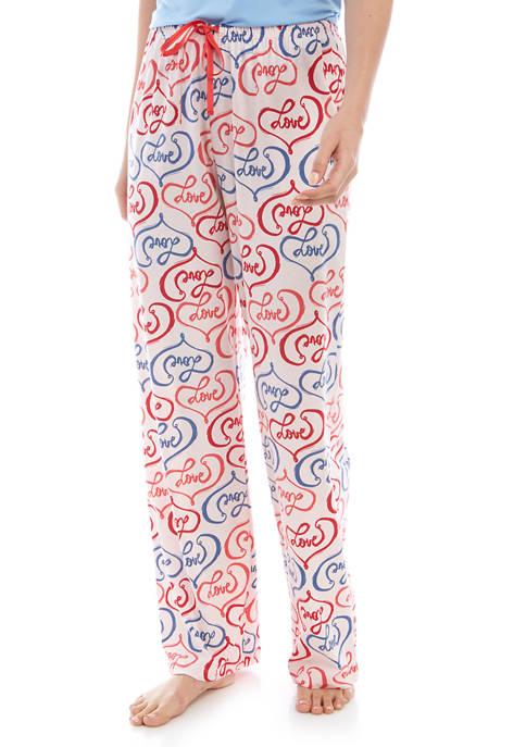 Womens Love Sleep Pants