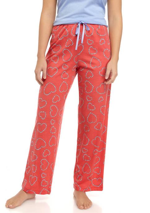 HUE® Flower Heart Pajama Pants