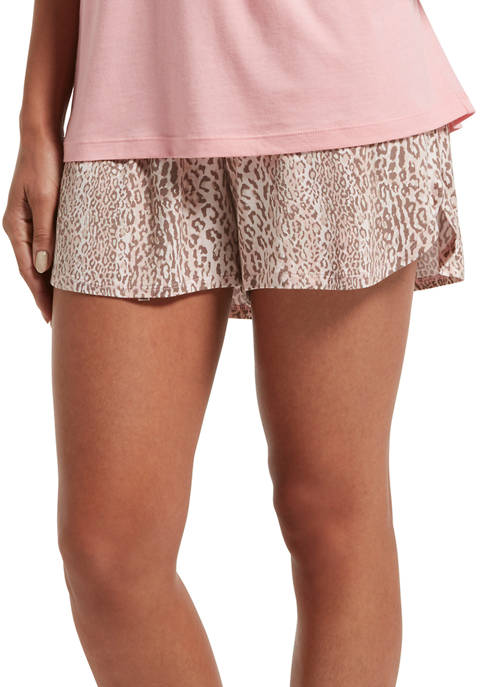 HUE® Womens Leopard Stripe Boxer Shorts