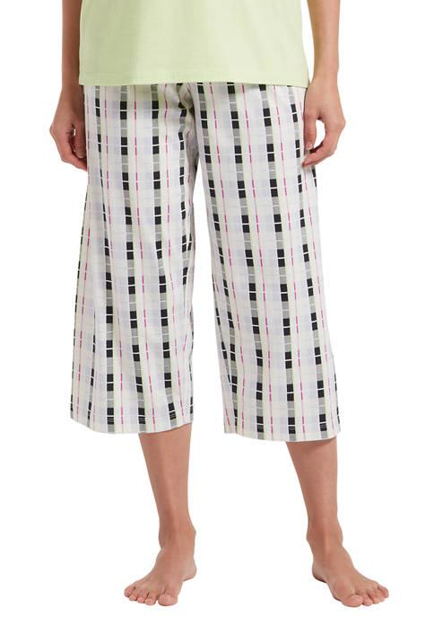 HUE® Box Plaid Capri Pajama Pants
