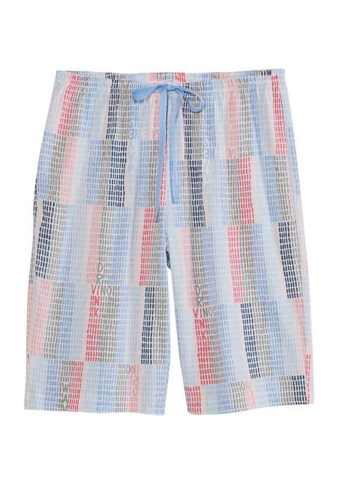 HUE® Geometric Block Bermuda Shorts