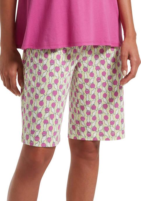 HUE® Balancing Act Bermuda Pajama Shorts