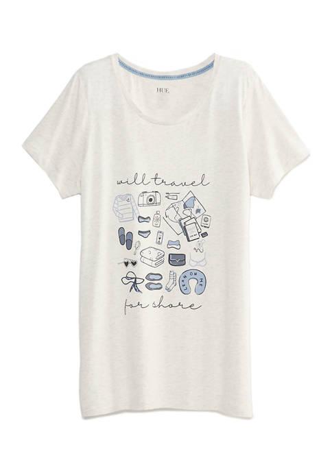 HUE® Short Sleeve Scoop Travel T-Shirt