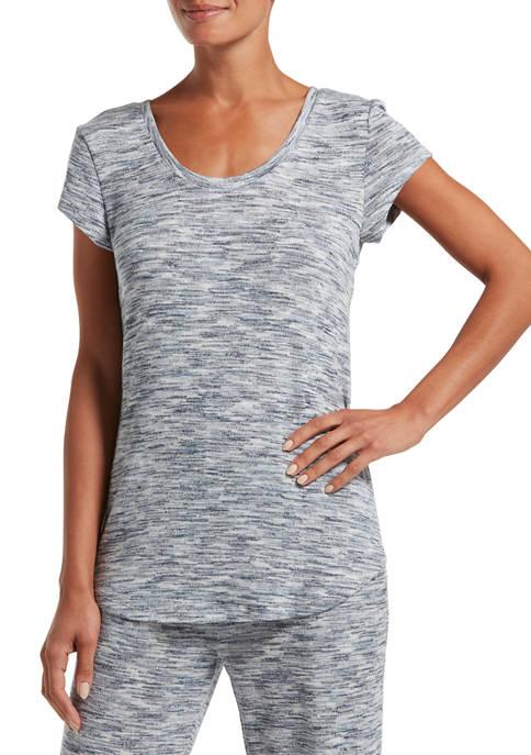 HUE® Fashion Solid Short Sleeve Sleep T-Shirt