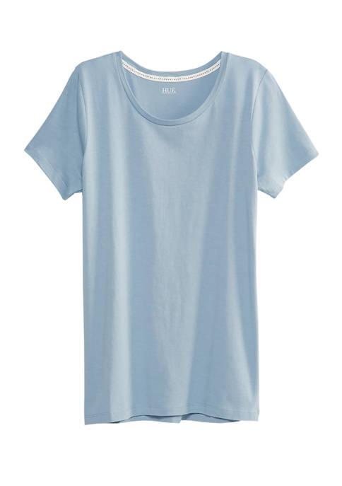 HUE® Short Sleeve V-Neck Sleep Shirt