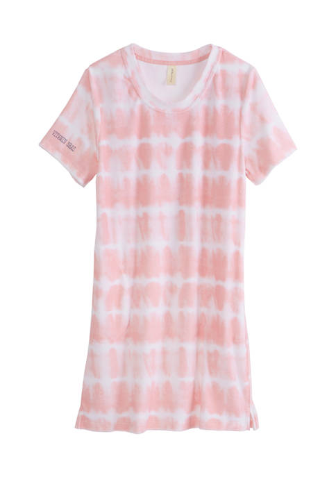 HUE® Terry Tie Dye Sleep Shirt