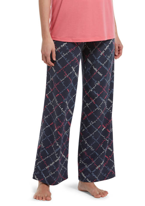 HUE® Destress Cross Pajama Pants