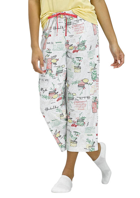 HUE® Fruit Punch Capri Pajama Pants