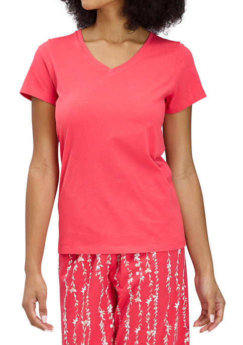 HUE® Short Sleeve V-Neck Sleep T-Shirt