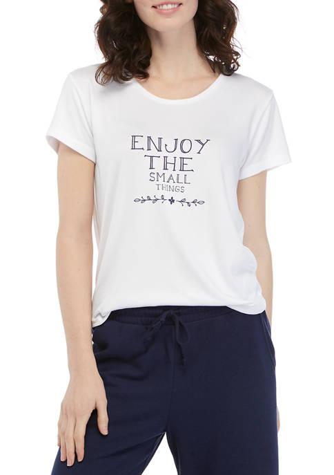 HUE® Enjoy The Small Things Short Sleeve Pajama