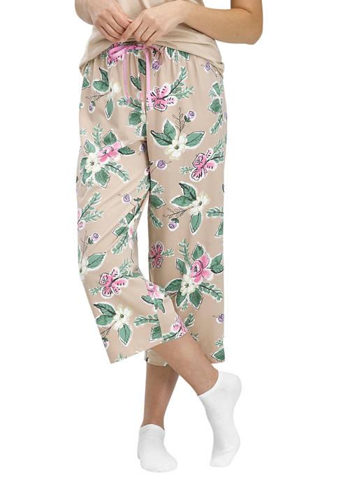 HUE® Doeskin Blossom Classic Pajama Capris