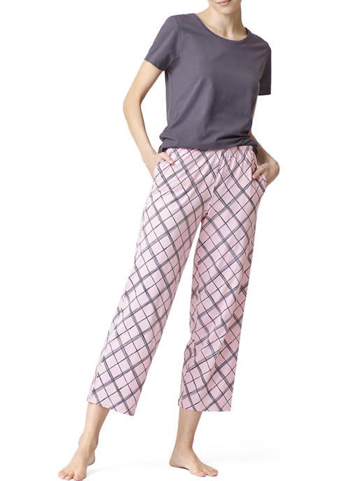 HUE® 2 Piece Modern Classic Skimmer Pajama Set