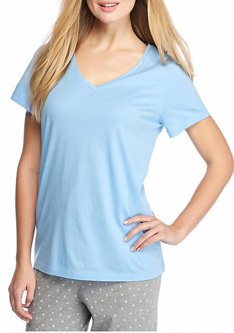 HUE® Short Sleeve V-Neck Tee
