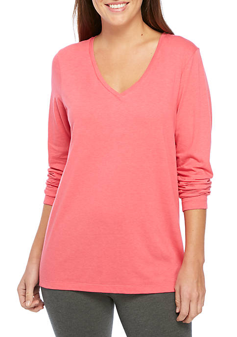 HUE® Long Sleeve V-Neck Sleep Tee  e554a442e